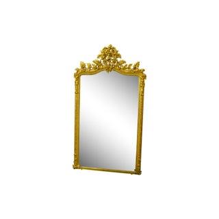 Tall Rococo Style Giltwood Mirror
