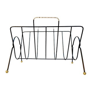 Mid-Century Modern Tony Paul Magazine Rack