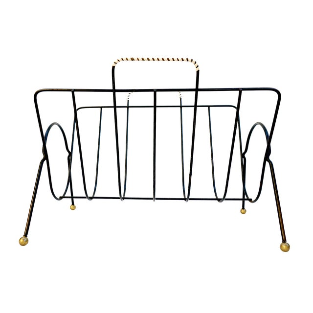 Mid century modern tony paul magazine rack chairish for 0co om cca 9 source table