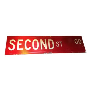 Second Street Sign