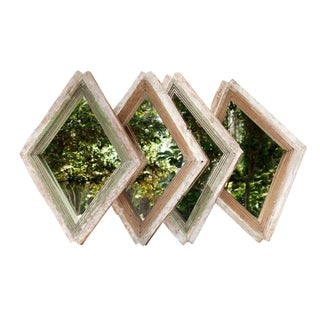 French Diamond Shaped Mirrors - Set of 4