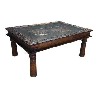 Indian Teak Wood Coffee Table