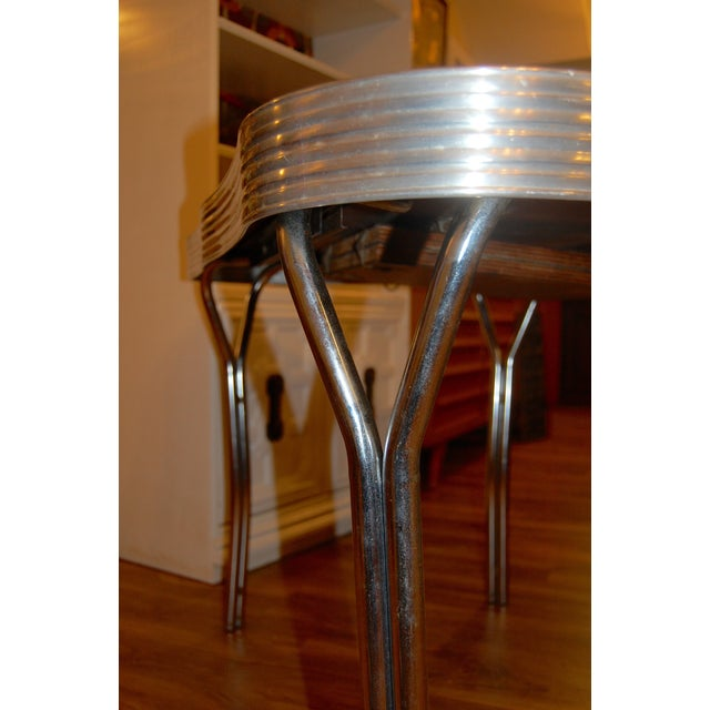 1950s Y-Leg Chrome Dining Table - Image 4 of 6