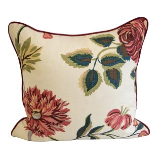 Schumacher Linen Floral Pillow