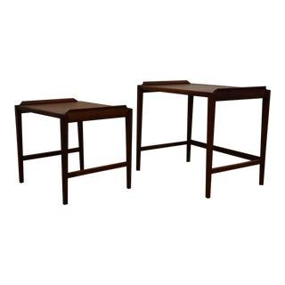 Walnut Nesting Tables - A Pair