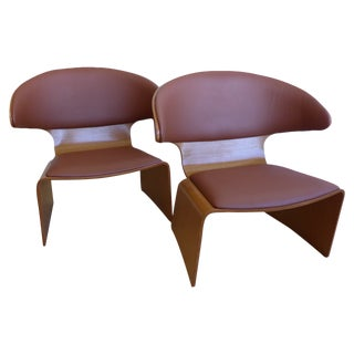 "Hans Olsen Teak ""Bikini"" Lounge Chair - Pair"