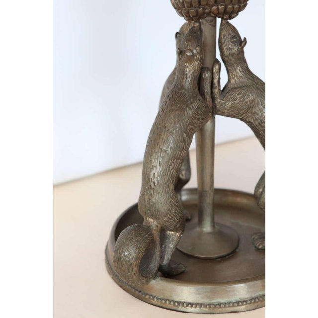 Silvered Bronze Squirrel Table Lamp - Image 5 of 10