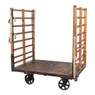 Late 19th Century Midwestern Train Depot Luggage Cart