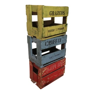 Colorful Decorative Australian Crates - Set of 3