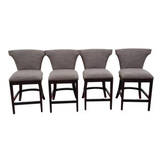 Bernhardt Custom Fabric Wyatt Counter Stools - Set of 4