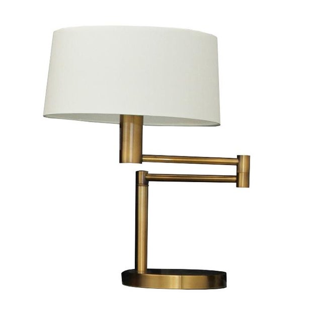 ralph lauren hinge arm table lamps pair chairish. Black Bedroom Furniture Sets. Home Design Ideas