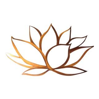 Copper Lotus Flower Metal Wall Art
