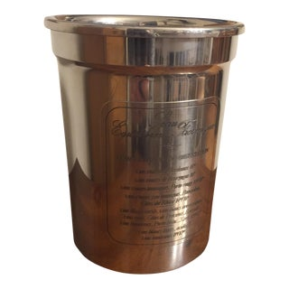 French Etain Du Manoir Pewter Wine Bucket Thermal