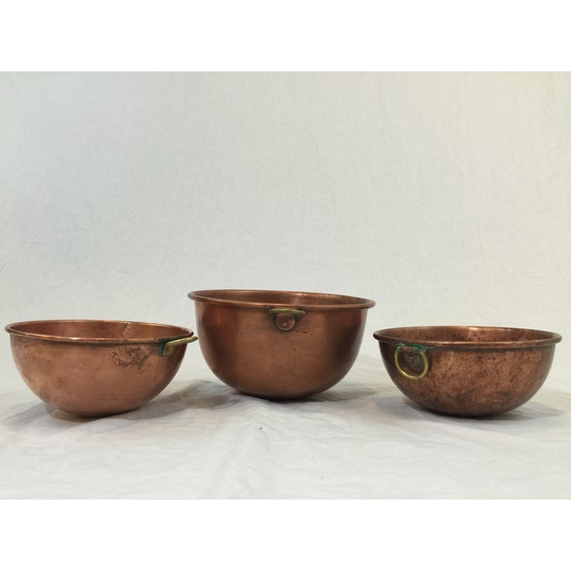 Vintage Copper Baking Bowls - Set of 3 - Image 5 of 6