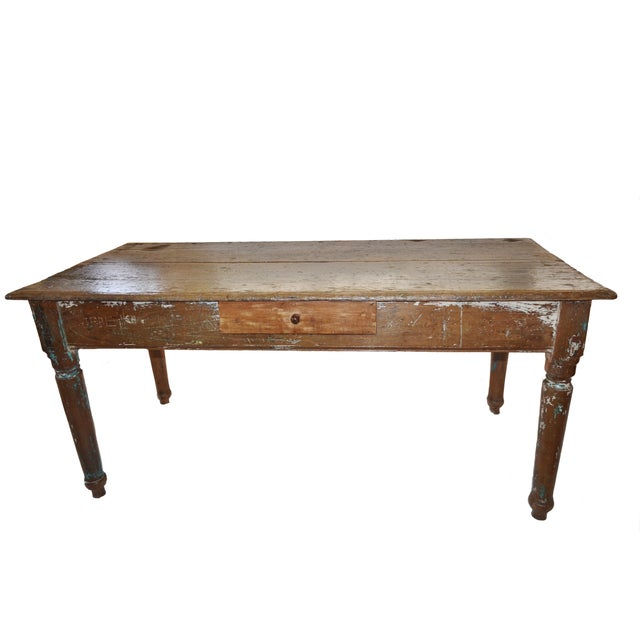 19th Century Cedar Farm Table - Image 1 of 4