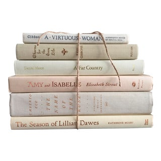 Literary Cream & White Fiction Hardbound Books - Set of 6