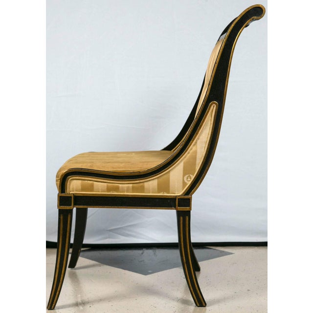 John Stuart Saber Leg Dining Chairs - Set of 6 - Image 5 of 9