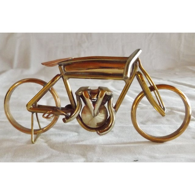 Brass Motorcycle Sculpture Cyclone Racer - Image 9 of 10