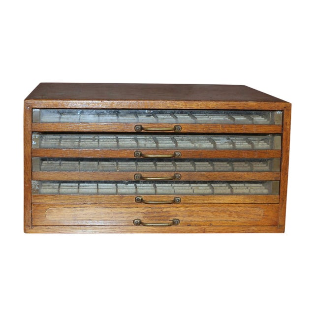 Antique Early 1900's Spool Display Cabinet - Image 1 of 9