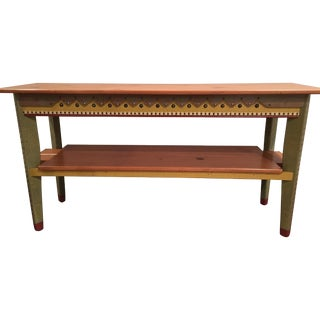 David Marsh M&T Console Table With Shelf