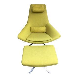 B+B Italia Metropolitan Me 100 Lounge Chair & Ottoman - A Pair