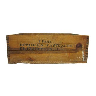 Hercules Fasteners Wooden Crate