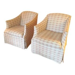 Lee Industries Custom Arm Chairs - A Pair