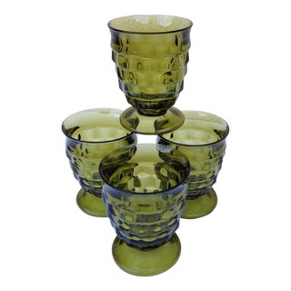 Mid-Century Pedestal Rocks Glasses - Set of 4