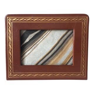 Florentine Gilt Leather Travel Frame