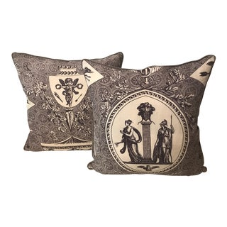 Beige & Brown Roman Style Pillows - A Pair