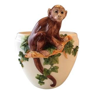 Italian Monkey Cachepot Planter