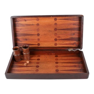 Inlaid Backgammon Board & Accessories
