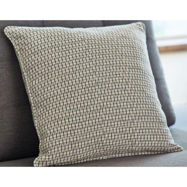 Light Graphite Ikat Black Pillow Covers - Pair - Image 3 of 3