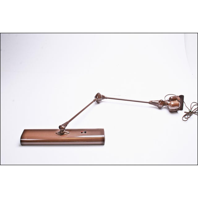 Vintage Industrial Brown Clamp On Articulating Desk Lamp - Image 2 of 11