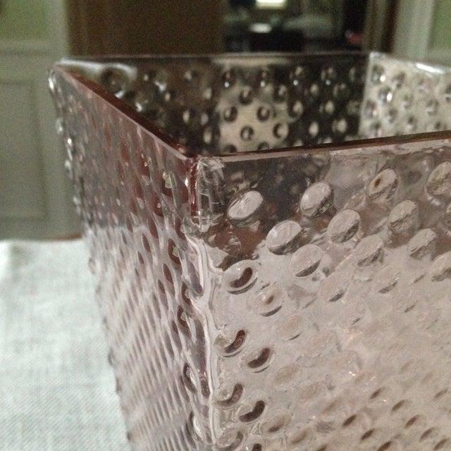 Vintage Pink Glass Hobnail Vase - Image 6 of 11