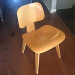 Image of Eames Molded Plywood Dining Chairs - Set of 6