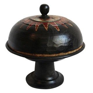 Antique Balinese Covered Wood Pedestal Stand