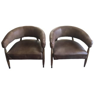 Restoration Hardware Leather Chairs - A Pair