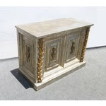 Image of Hollywood Regency Silver Gilt Ornate Console Table