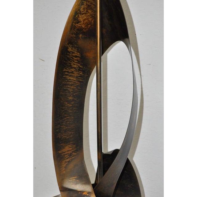 Image of C.1960s Harry Balmer Sculptural Steel & Bronze Lamp