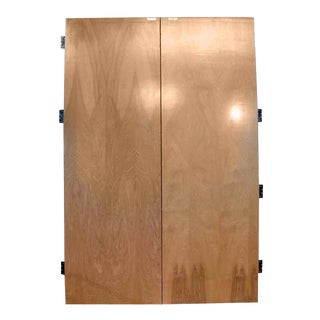 Flush Maple Veneer Double Doors - A Pair