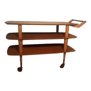 Mid-Century Modern Wooden Cart