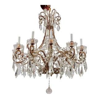 Italian 12 Light Crystal Chandelier