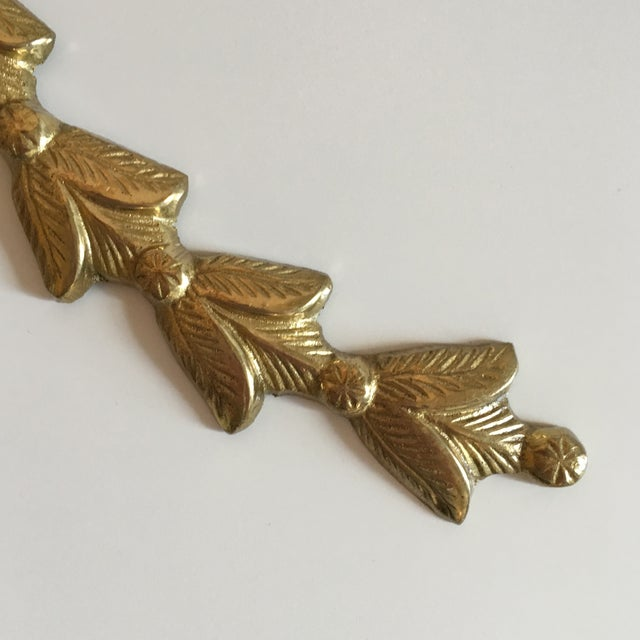 Brass Ribbon Wall Hangings - A Pair - Image 6 of 9