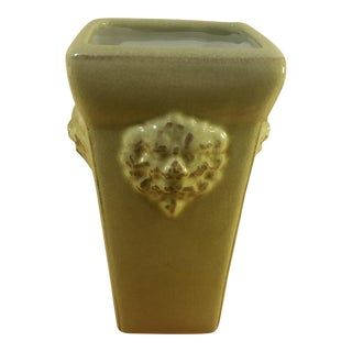 Lion Head Ceramic Celadon Vase