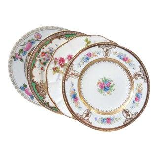 Vintage Mismatched Bread Plates - Set of 4