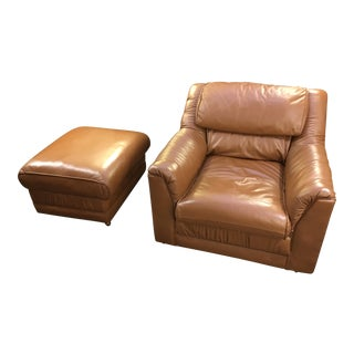 Emerson Leather Chair & Ottoman