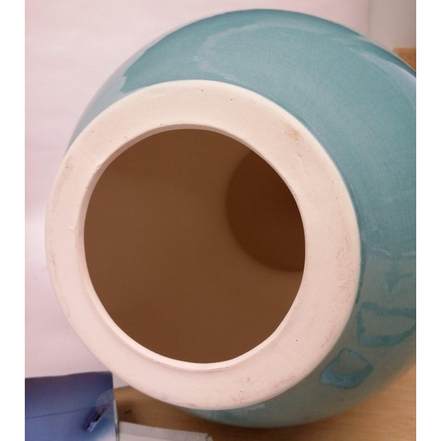 Image of Custom Turqoise-Aqua Crackle Table Lamp Bases - A Pair