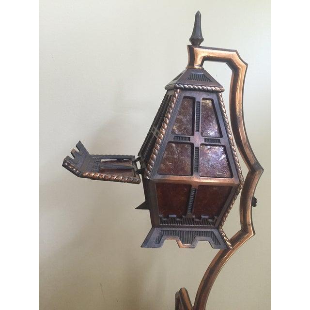 Image of Vintage Brady Lite Mica Smoking Floor Lamp