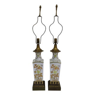 Chinoiserie Lamps - A Pair